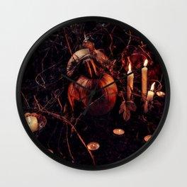 Pumpkins And Candles 2 Wall Clock