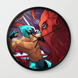 El Tiburon vs El Pulpo Wall Clock