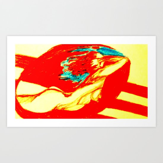 Woman in Red Art Print