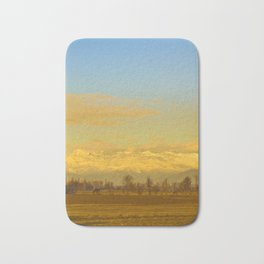 Piamonte Landscape Afternoon Scene, Italy Bath Mat