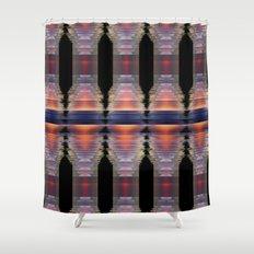 Digital energy Shower Curtain