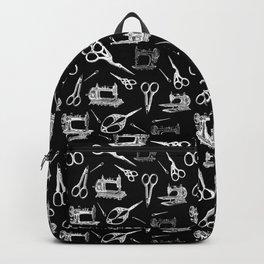 Antique Sewing // Black Backpack