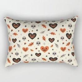 I Heart Fall Pattern Rectangular Pillow