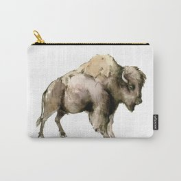 Bison, bison woodland Montana Wyoming state decor Carry-All Pouch