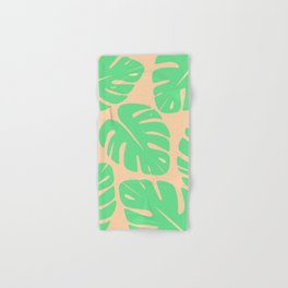 Monstera Leaf Print 3 Hand & Bath Towel