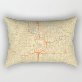Atlanta Map Retro Rectangular Pillow