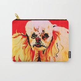 Toy Poodle portrait in red Carry-All Pouch