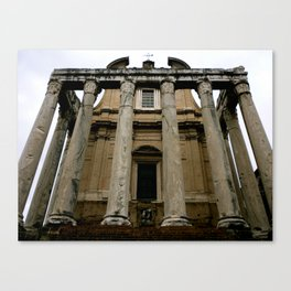 Temple of Antoninus (Rome, Italy) Canvas Print