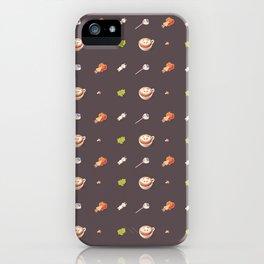 Icing Cookie Pattern_Dark iPhone Case