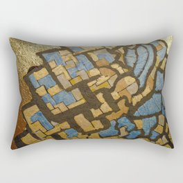 Gold cubic Eiffel tower close up Rectangular Pillow