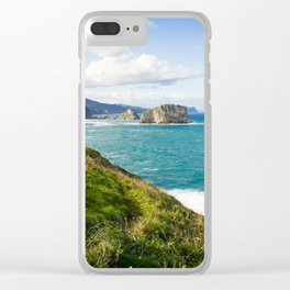 Basque Country coast landscape Clear iPhone Case