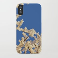 Frosted Trees Winter iPhone X Slim Case
