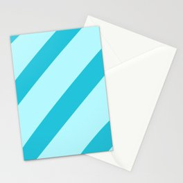 Minty Stripes Stationery Cards