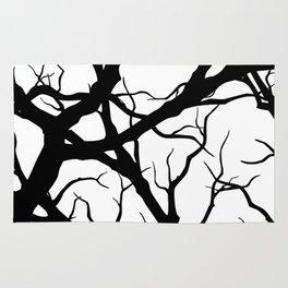 Black n White branche Rug