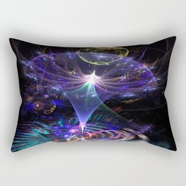 Iris Flame Fractal Rectangular Pillow