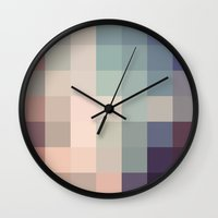 cloud Wall Clocks featuring Cloud by ktparkinson