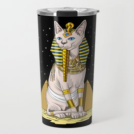 Egyptian Sphynx Cat Goddess Bastet Travel Mug