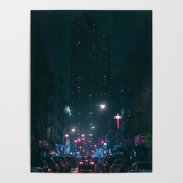 Night Life New York City (Color) Poster