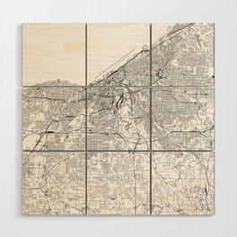 Cleveland White Map Wood Wall Art