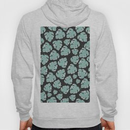 Seamless Pattern with exotic Leaves. Scandinavian Hand Drawn Style Hoody