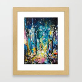 Evening on fifth avenue Framed Art Print