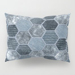 Abstract Jeans Pillow Sham
