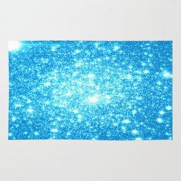 Sky Blue Sparkle Stars Rug