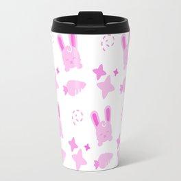 Gangster Bunny, Playful Pattern Travel Mug
