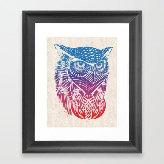 Owl of Color Framed Art Print