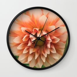 Orange Dahlia Wall Clock