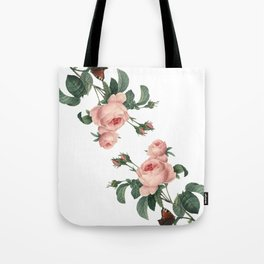 Butterflies in the Rose Garden on White Tote Bag