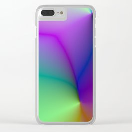 Colorful Pearl Pattern Clear iPhone Case