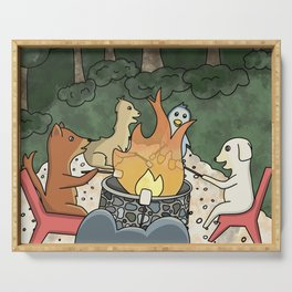 Bonfire with Friends Serving Tray