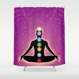 Crypto Chakra Shower Curtain