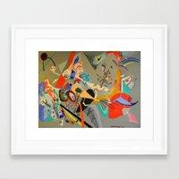 kandinsky Framed Art Prints featuring Kandinsky Composition Study by Andrew Sherman