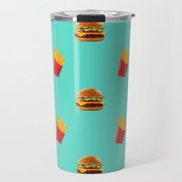 Burgers with fries Travel Mug