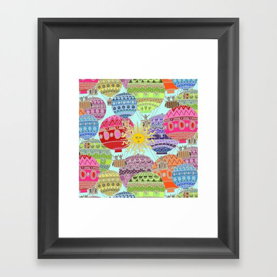 Candy Sky Framed Art Print