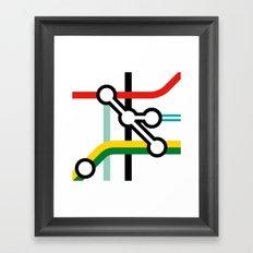 Tube Junction No1 Framed Art Print