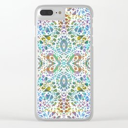 Mehndi Ethnic Style G356 Clear iPhone Case