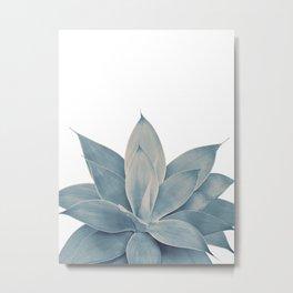 Blush Blue Agave #1 #tropical #decor #art #society6 Metal Print