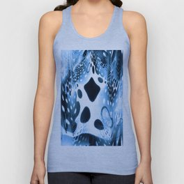 Blue Circles, Drops and Drips Unisex Tank Top