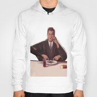 magritte Hoodies featuring Rene Magritte- self portrait by Dano77
