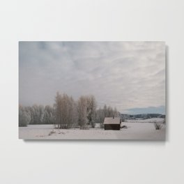 Ice Hut Metal Print