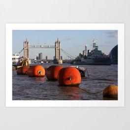 The River Thames, London, England Art Print