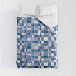 Mod Gingham - Blue Duvet Cover
