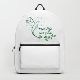 Hummingbird Free Life Quote Backpack