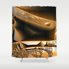 Golden layers of mysterious details Shower Curtain