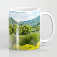 running Mugs featuring Running  by Julie Luke