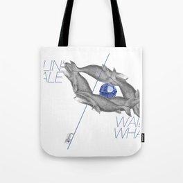 Wailin' Whale Vintage Design Tote Bag