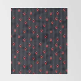 Red Lights at Night Throw Blanket